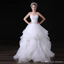 wedding dresses made to order sweetheart diamonds organza wedding dresses charming white tiered