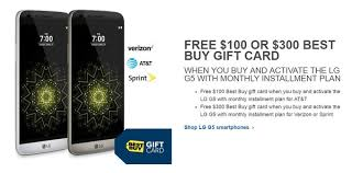gift card deals black friday lg g5 black friday 2016 deal on best buy gives 300 gift card