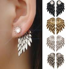 angel wing earrings angel wing stud earrings fakurma uk