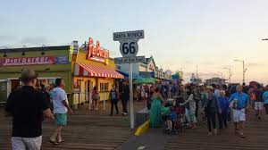Original Route 66 Map by Historic Us Route 66 Map And Original Santa Monica Pier Sign As