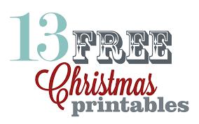 inspiration wednesday 13 free christmas printables