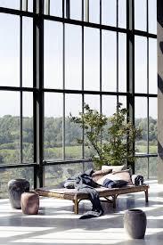 bamboo day bed natural black 210cm hübsch interiors