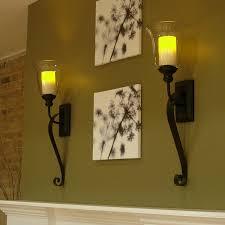 Oil Rubbed Bronze Sconces Serafina Flameless Candle Sconce With Flameless Candle