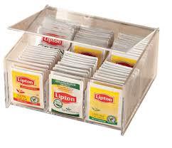 amazon tea amazon com miles kimball acrylic tea bag box grocery u0026 gourmet