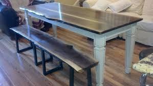 handmade live edge claro walnut dining inspirations also kitchen