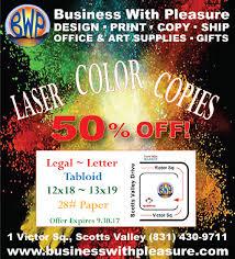 business with pleasure headquarters for printing santa cruz