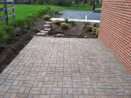 Outdoor Pavers For Patios by Paver Stone Patios Installation Russell Landscape Services