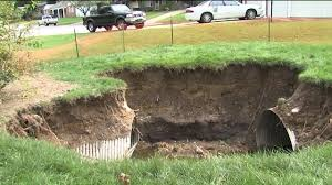 Sinkhole In Backyard Sinkhole Concerns Mission Homeowner Who Says It U0027s Dangerous For
