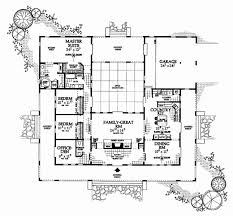 courtyard house plan new one story house plans with courtyard house plan