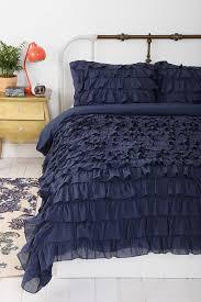 bedroom awesome white ruffle bedding for elegant bedroom design