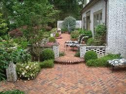 Herringbone Brick Patio Brick Patio With Flower Bed And Furniture Create A Fresh