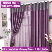 Lavender Drapery Panels Colorful Curtains Voile Panel Drapes Greenpurple Sheer Lavender