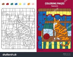 seasons coloring page kids november month stock vector 438510406