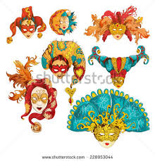Medieval Decorations Vector Set Decoration Masks Venetian Style Stock Vector 245518606