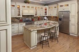 Cream Glazed Kitchen Cabinet - Kitchen cabinet glaze
