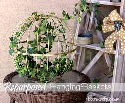 baskets for home decor repurposed hanging garden baskets