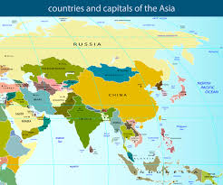 asia map and countries map of asia guide of the world