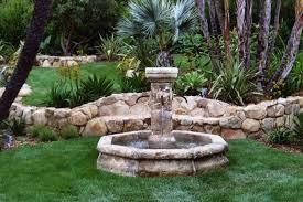 Backyard Fountains Ideas Backyard How To Make An Outdoor Water Waterfall Kits