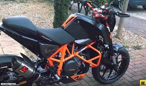 Ktm D Russ S Black And Orange Ktm 690 Duke Featured Derestricted