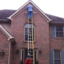 best way to hang christmas lights avoid injuries while hanging christmas lights