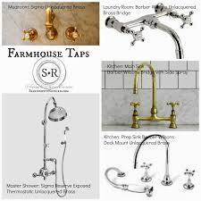 Whitehaus Whkbcr3 9101 Deck Mount by Unlacquered Brass Kitchen Faucet Antique Brass Bathroom Faucets