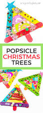 popsicle stick christmas tree craft arty crafty kids