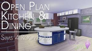 the sims 4 room build open plan kitchen and dining youtube