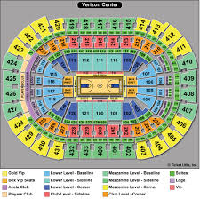 verizon center seating chart printable pictures to pin on