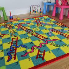 Kids Playroom Rug Kids Unisex Snakes U0026 Ladders Slip Resistant Washable Playroom Rugs