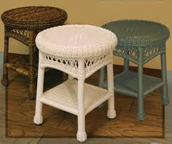 round wicker end table sands resin wicker dining furniture wicker end tables iron wood
