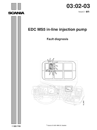scania edc ms5 in line injection pump fault diagnosis throttle
