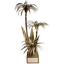 brass palm tree floor lamp by maison jansen tree floor lamp