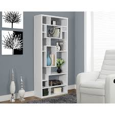Modern White Bookcase by Monarch 14 Shelf Bookcase White Bookcases U0026 Shelving Best