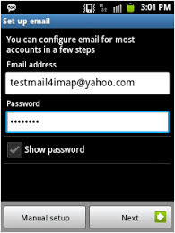 yahoo mail android yahoo account to android using imap