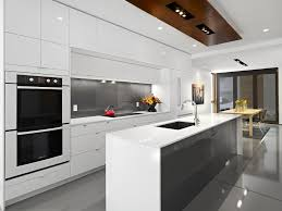 Kitchen Island Contemporary - white gloss lacquer cabinets kitchen contemporary with stainless