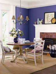 dining room paint colors with purple walls and white brick