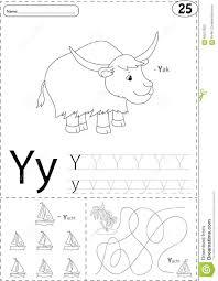 Free Alphabet Tracing Worksheets Cartoon Yak And Yacht Alphabet Tracing Worksheet Writing A Z A