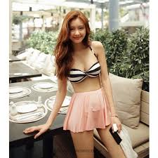 micro skirt vacation two retro strapless push out twisted neck micro