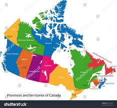 Labeled Map Of The World by Colorful Canada Map Provinces Capital Cities Stock Vector 36403279