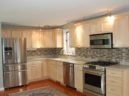ash wood classic blue raised door refacing kitchen cabinets cost