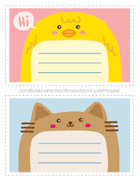 adorable animal thank you notecards for free printable