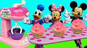 magic mixer cupcakes mickey mouse minnie mouse donald