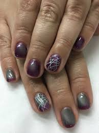 color changing magnetic cat eye stamped gel nails gel nail