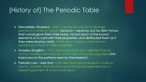 modern periodic table arrangement periodic table history groups and characteristics ppt download