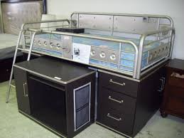 Metal Frame Loft Bed With Desk Bedroom Metal Bunk Bed With Desk Bedrooms