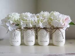 Mason Jars Wedding Centerpieces by White Cream Distressed Mason Jars Mason Jar Centerpieces Wedding