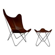 hardoy butterfly chair grand comfort leather coffee brown weinbaum