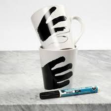 krus wrapping paper krus med silhuet malet med glas og porcelænstusch anton