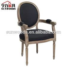 Linen Dining Chair French Country Oval Linen Dining Arm Chair French Louis Wooden