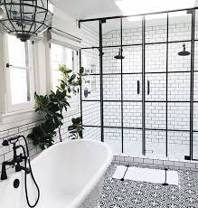 black and white tile bathroom ideas best 25 black shower ideas on concrete bathroom